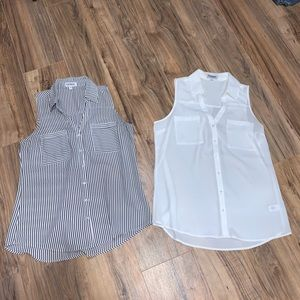 2 Express button down tops
